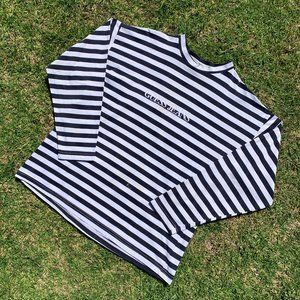 Vintage 90s Guess Jeans USA Striped Embroidered LS
